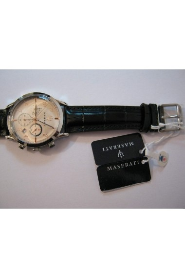 Ceas Maserati Ricordo R8871625006, carcasa inox, 42mm, curea neagra piele