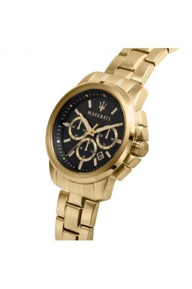 Ceas Maserati Successo R8873621013, inox auriu, carcasa 44mm, cronograf