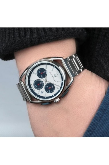 Ceas Maserati Trimarano R8873632001, inox, carcasa 41mm, cronograf
