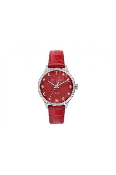 Ceas Trussardi T-Complicity R2451130502, carcasa inox, 34mm, curea rosie