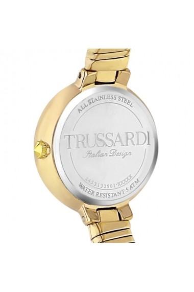 Ceas Trussardi T-Lissom R2453132502, inox auriu, carcasa 28mm, bratara flexibila
