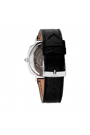 Ceas Trussardi T-King R2451121002, carcasa inox, 40mm, curea piele neagra