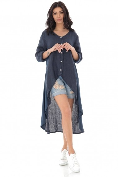 Cardigan Roh Boutique lung din in - NAVY - ROH - JR517 bleumarin