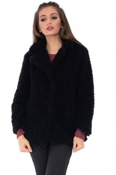 Palton Roh Boutique Neagra JR424 Neagra