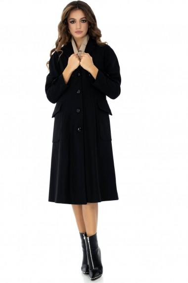 Palton Roh Boutique Neagra, ROH, captusit - JR406 Neagra