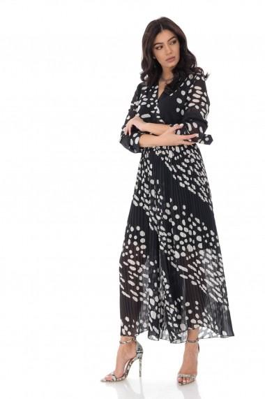 Salopete Roh Boutique petrecuta eleganta- NEGRU - ROH-TR373 negru/alb