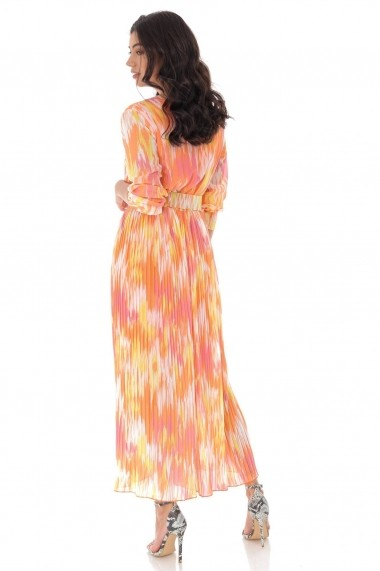 Salopeta Roh Boutique colorata si curea in talie - Piersica - ROH - TR370 piersica