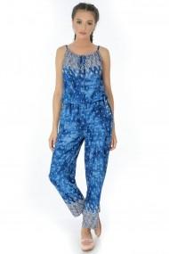 Salopeta Roh Boutique albastra, ROH, cu bretele - TR267 albastru|multicolor