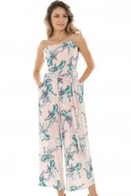 Salopeta Tropical Roh Boutique print jumpsuit - TR317 Roz