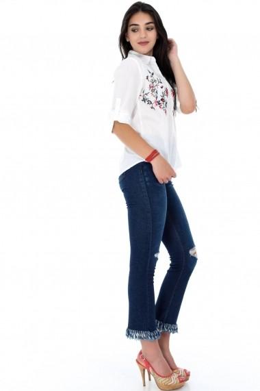 Camasa Roh Boutique alba, ROH, brodata - BR1865 alb One Size