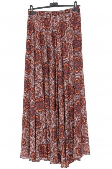 Fusta lunga Roh Boutique maxi, cu imprimeu pailsey - Orange - ROH - FR487 multicolor