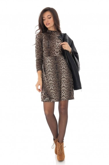 Rochie scurta Roh Boutique DR4010 Animal Print