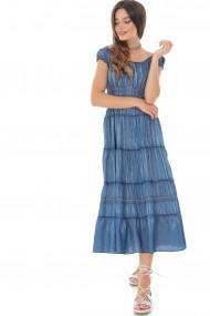 Rochie lunga Roh Boutique DR3925 Albastru