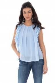 Bluza Roh Boutique light blue cu volane - BR2312 light blue