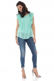 Bluza Roh Boutique Mint cu volane - BR2311 mint