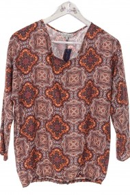 Bluza Roh Boutique lejera cu imprimeu paisley - Orange - ROH - BR2316 multicolor