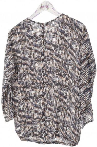 Bluza Roh Boutique lejera, din satin - Gri - ROH - BR2315 gri