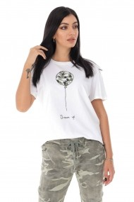 Tricou Roh Boutique ''Dream-up'' - Alb/verde - ROH - BR2322 alb