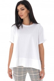 Tricou Roh Boutique oversize din bumbac - Alb - Roh - BR2319 alb