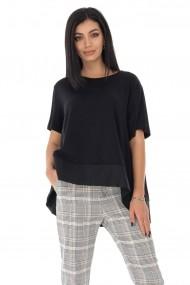 Tricou Roh Boutique oversize din bumbac - Negru - Roh - BR2318 negru