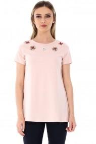 Bluza Roh Boutique Peach, ROH, cu flori aplicate - BR1765 Peach