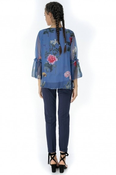 Bluza Roh Boutique bleumarin, ROH, din voal - BR1830 bleumarin One Size