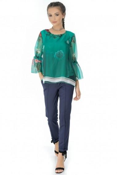 Bluza Roh Boutique verde, ROH, din voal - BR1829 verde One Size