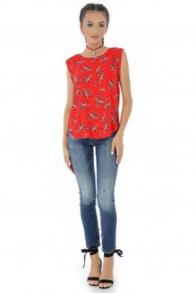 Bluza Roh Boutique rosie, ROH, cu imprimeu - BR1824 rosu
