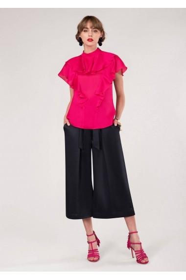 Bluza Roh Boutique roz, ROH, cu volane - BR1832 roz