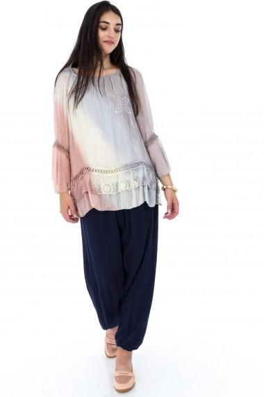 Bluza Roh Boutique multicolora, ROH, in degrade - BR1861 gri|roz One Size