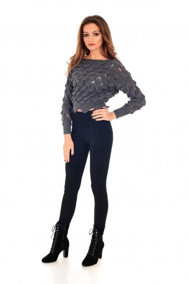Pulover Roh Boutique gri, ROH, tricotat, scurt - BR2021 gri