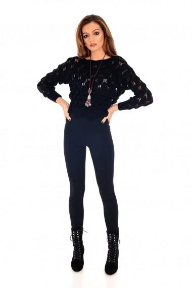 Pulover Roh Boutique negru, ROH, tricotat, scurt - BR2022 negru
