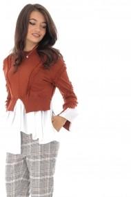 Bluza Roh Boutique BR2195 Caramiziu