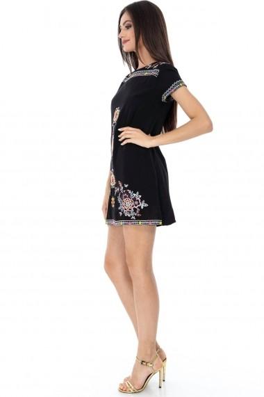 Tunica Roh Boutique - DR3108 negru|multicolor