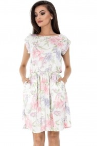 Rochie de zi Roh Boutique cu imprimeu floral - DR3054 multicolora