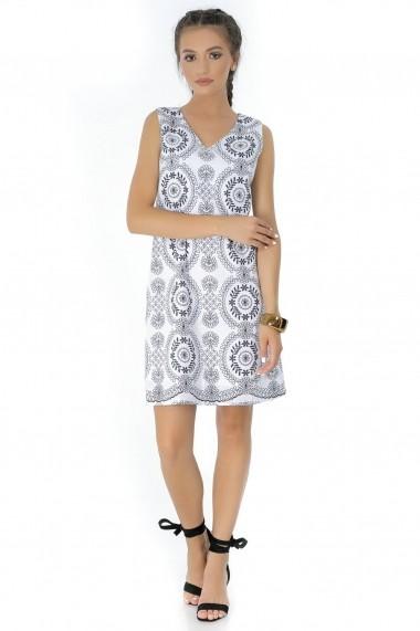 Rochie de zi Roh Boutique- DR3441 alb|negru