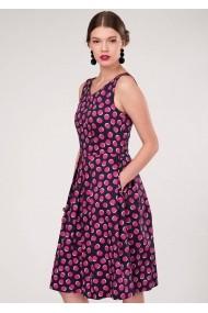 Rochie de zi Closet London - DR3446 bleumarin roz