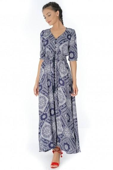 Rochie de zi Roh Boutique - DR3424 bleumarin alb