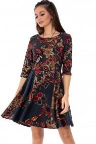 Rochie scurta Roh Boutique DR3667 floral