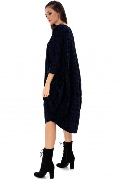 Rochie midi Roh Boutique DR3660 bleumarin/negru