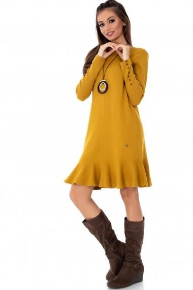 Rochie de zi Roh Boutique mustar, ROH, tricotata - DR3655 mustar