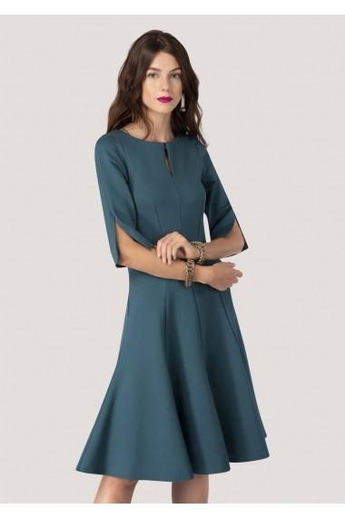 Rochie de zi Roh Boutique midi, in clini - DR3677 albastra