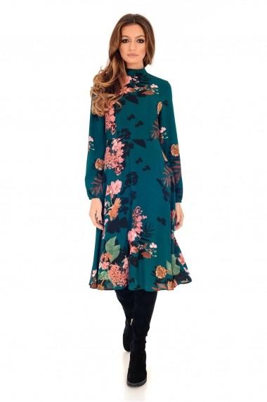 Rochie de zi Roh Boutique - DR3684 verde|multicolor