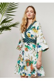 Rochie de seara Roh Boutique multicoloraa, ROH, stil kimono - CLD943 multicolora