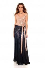 Rochie de seara Roh Boutique - DR3690 aurie cu negru