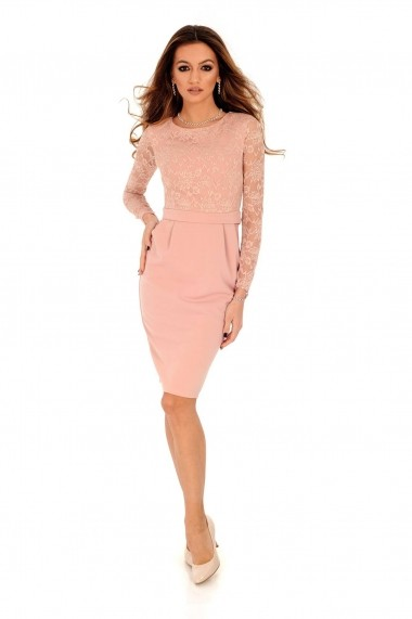 Rochie scurta Roh Boutique DR3687 nude