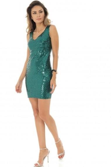 Rochie scurta Roh Boutique de ocazie 2 in 1 , ROH, verde - DR3698 verde