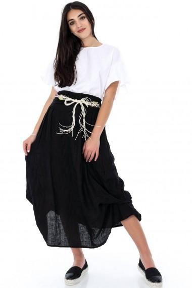 Fusta lunga Roh Boutique - FR392 negru One Size