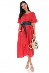 Rochie midi Roh Boutique chic oversize, din in DR4188 rosu