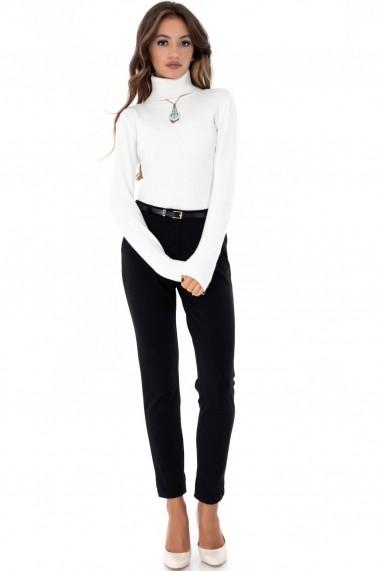 Pantalon Roh Boutique negru, ROH, simplu - TR282 negru